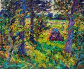 036 Landschaft mit Heuhaufen II