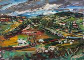 Burgund, Wiesen am Mont Vincent